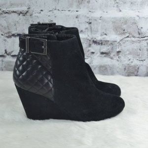 BCBG quilted ankle boots